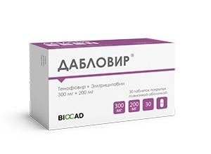 Дабловир® (эмтрицитабин + тенофовир)